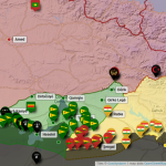Carte interactive des affrontements au Kurdistan