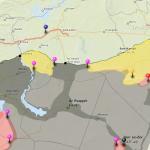 Cartographie interactive des combats en Syrie